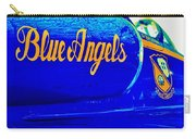 Vintage Blue Angel Carry-all Pouch by Benjamin Yeager