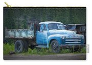 Vintage Blue Chevrolet Pickup Truck Carry-all Pouch