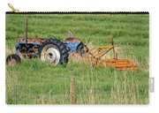 Vintage Blue Tractor Carry-all Pouch