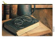 Vintage Books And Eyeglasses Carry-all Pouch