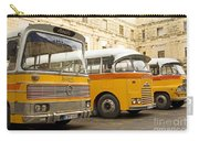 Vintage British Buses In Valetta Malta Carry-all Pouch