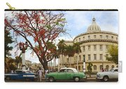 Vintage Cars Parked On A Street Carry-all Pouch