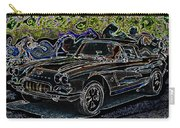 Vintage Chevy Corvette Black Neon Automotive Artwork Carry-all Pouch