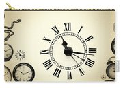 Vintage Clocks Carry-all Pouch