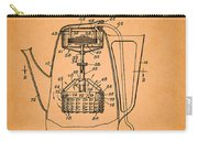 Vintage Coffee Maker Patent 1958 Carry-all Pouch