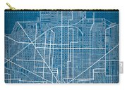 Vintage Detroit Rail Concept Street Map Blueprint Plan Carry-all Pouch
