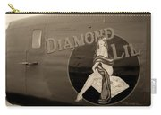 Vintage Diamon Lil B-24 Bomber Aircraft Carry-all Pouch