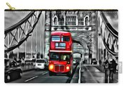 Vintage Double Decker In London Carry-all Pouch
