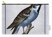 Vintage English Sparrow Vertical Carry-all Pouch