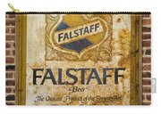 Vintage Falstaff Beer Sign Square Dsc07179 Carry-all Pouch