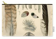 Vintage Feather Study-a Carry-all Pouch