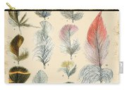 Vintage Feather Study-b Carry-all Pouch