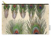 Vintage Feather Study-jp2084 Carry-all Pouch