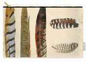 Vintage Feather Study-jp2085 Carry-all Pouch