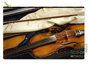 Vintage Fiddle In The Case Carry-all Pouch
