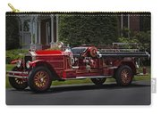 Vintage Firetruck Carry-all Pouch by Susan Candelario