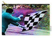Vintage Formula 1 Race Checkered Flag  Carry-all Pouch
