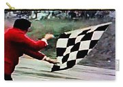 Vintage Formula Race Checkered Flag Carry-all Pouch