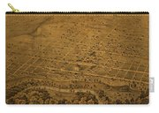 Vintage Fort Worth Texas In 1876 City Map On Worn Canvas Carry-all Pouch