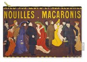 Vintage French Paris Opera Pasta Poster Carry-all Pouch