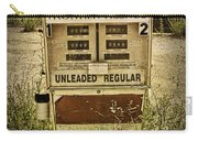Vintage Gas Pump At An Abandoned Filling Station Carry-all Pouch