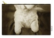 Vintage Golden Retriever Pup Carry-all Pouch by Angel  Tarantella