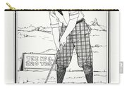 Vintage Golfer 1900 Carry-all Pouch
