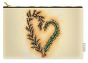 Vintage Heart Wreath Carry-all Pouch
