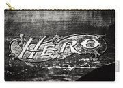 Vintage Hero Sign In Black And White  Carry-all Pouch
