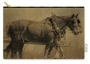 Vintage Horse Plow Carry-all Pouch