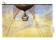 Vintage Hot Air Balloon Over Eiffel Tower Carry-all Pouch