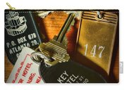 Vintage Hotel Keys Carry-all Pouch