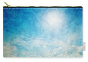 Vintage Image Of Sunny Blue Sky Carry-all Pouch
