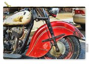 Vintage Indian Motorcycle - Live To Ride Carry-all Pouch