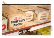 Vintage Jell-o Butterscotch Pudding Carry-all Pouch by Edward Fielding
