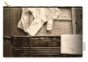 Vintage Laundry Room In Sepia Carry-all Pouch