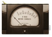Vintage Light Meter Carry-all Pouch by Edward Fielding