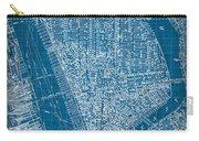 Vintage Manhattan Street Map Blueprint Carry-all Pouch
