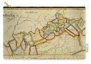 Map Of Kentucky 1812 Carry-all Pouch