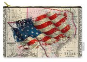 Vintage Map Of Texas 2 Carry-all Pouch
