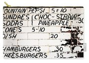 Vintage Menu On Brick Carry-all Pouch