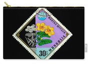 Medicinal Plants - Vintage Mongolia Stamp Carry-all Pouch