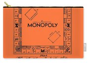 Vintage Monopoly Game Patent Carry-all Pouch