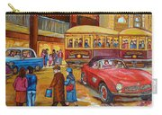 Vintage Montreal-st.catherine And Union-couples And Streetcars Carry-all Pouch