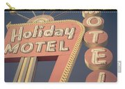 Vintage Motel Sign Holiday Motel Square Carry-all Pouch