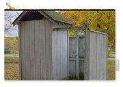 Vintage Outhouse Alongside A Historical Country School In Southwest Michigan Carry-all Pouch