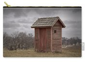 Vintage Outhouse Behind A Historical Country School In Southwest Michigan Carry-all Pouch