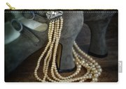 Vintage Pearls And Shoes Carry-all Pouch