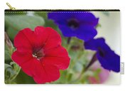Vintage Petunia Flowers Carry-all Pouch