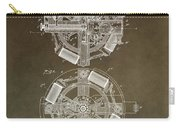 Vintage Phonograph Patent Carry-all Pouch